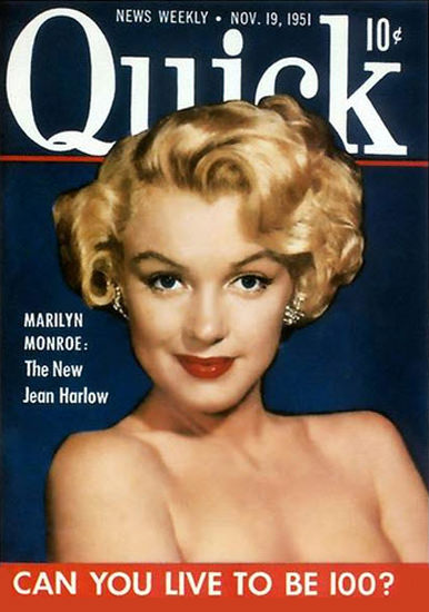 Marilyn Monroe Quick Cover Copyright 1951 | Sex Appeal Vintage Ads and Covers 1891-1970