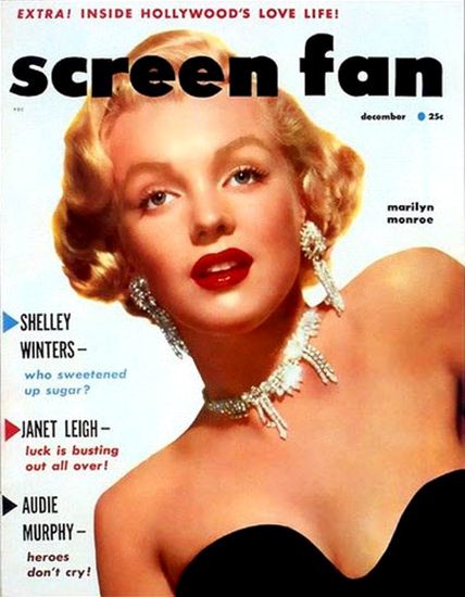 Marilyn Monroe Screen Fan Cover | Sex Appeal Vintage Ads and Covers 1891-1970