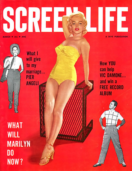 Marilyn Monroe Screen Life Cover | Sex Appeal Vintage Ads and Covers 1891-1970