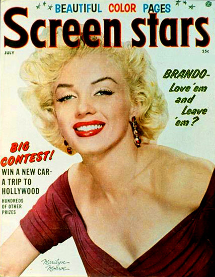 Marilyn Monroe Screen Stars Cover | Sex Appeal Vintage Ads and Covers 1891-1970