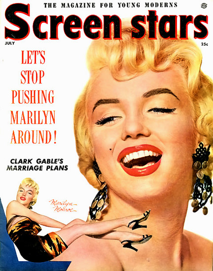 Marilyn Monroe Screen Stars Stop Pushing Marilyn | Sex Appeal Vintage Ads and Covers 1891-1970
