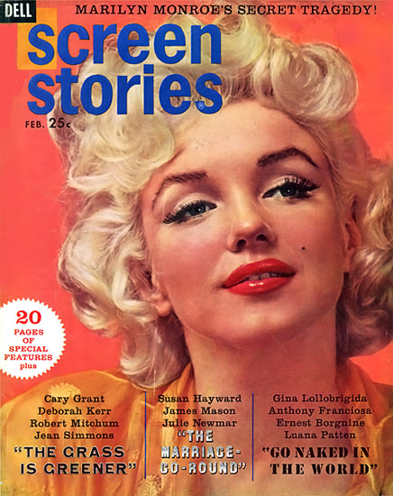 Marilyn Monroe Screen Stories Cover Copyright 1955 | Sex Appeal Vintage Ads and Covers 1891-1970
