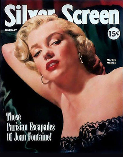 Marilyn Monroe Silver Screen | Sex Appeal Vintage Ads and Covers 1891-1970