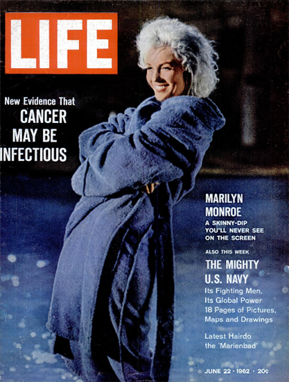 Marilyn Monroe Skinny-Dip Scene 22 Jun 1962 Copyright Life Magazine | Life Magazine Color Photo Covers 1937-1970