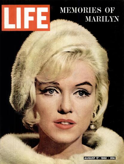Marilyn Monroe Suicide Memoires 17 Aug 1962 Copyright Life Magazine | Life Magazine Color Photo Covers 1937-1970