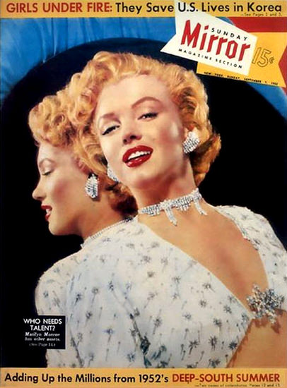 Marilyn Monroe Sunday Mirror Copyright 1952   Sex Appeal Vintage Ads and Covers 1891-1970
