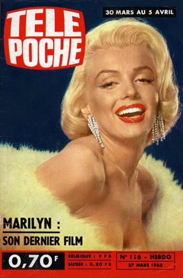 Marilyn Monroe Tele Poche Cover Copyright 1968 | Sex Appeal Vintage Ads and Covers 1891-1970