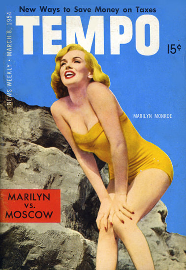 Marilyn Monroe Tempo Cover Copyright 1954 | Sex Appeal Vintage Ads and Covers 1891-1970