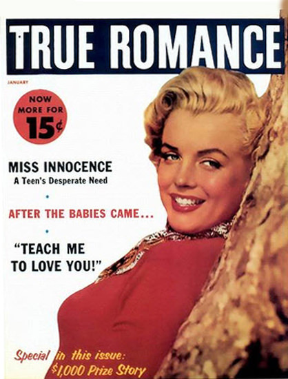 Marilyn Monroe True Romance Cover   Sex Appeal Vintage Ads and Covers 1891-1970