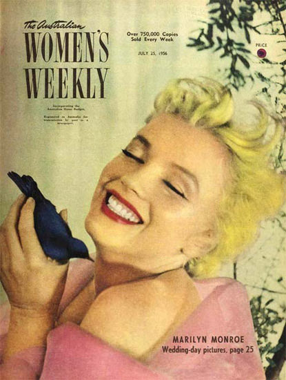 Marilyn Monroe Womens Weekly Cover Copyright 1956 | Sex Appeal Vintage Ads and Covers 1891-1970