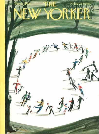 Mario Micossi The New Yorker 1960_03_05 Copyright | The New Yorker Graphic Art Covers 1946-1970