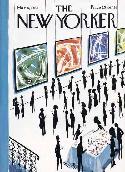 Mario Micossi The New Yorker 1965_03_06 Copyright   The New Yorker Graphic Art Covers 1946-1970