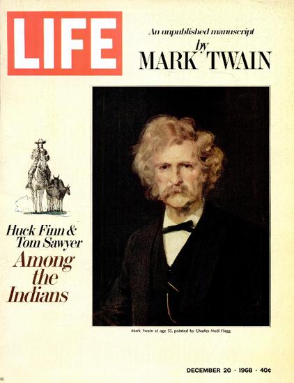 Mark Twain by Charles Noel Flagg 20 Dec 1968 Copyright Life Magazine | Life Magazine Color Photo Covers 1937-1970