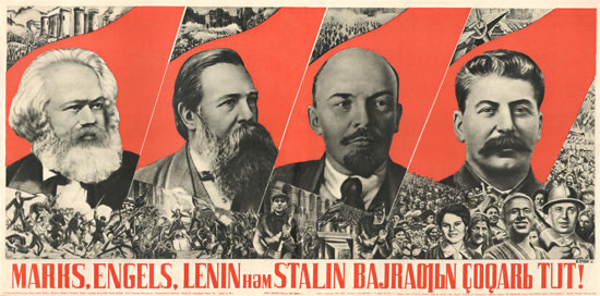 Marks Engels Lenin Stalin USSR Russia | Vintage War Propaganda Posters 1891-1970