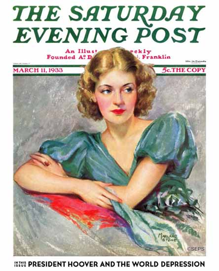 Marland Stone The Saturday Evening Post Cover 1933_03_11 | The Saturday Evening Post Graphic Art Covers 1931-1969