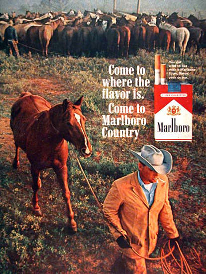 Marlboro 1965 Marlboro Country Cowboy | Vintage Ad and Cover Art 1891-1970