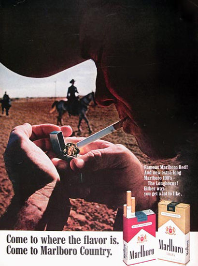 Marlboro 1968 Marlboro Man 100s | Vintage Ad and Cover Art 1891-1970