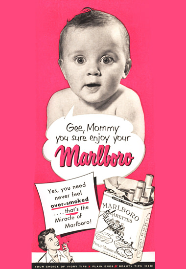 Marlboro Baby Mommy You Sure Enjoy 1951 | Vintage Ad and Cover Art 1891-1970