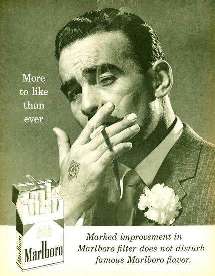 Marlboro Cigarettes Marlboro Man 1958 Playboy | Sex Appeal Vintage Ads and Covers 1891-1970