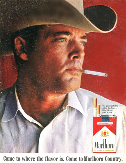 Marlboro Cigarettes Marlboro Man 1967 | Vintage Ad and Cover Art 1891-1970