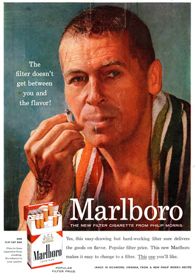 Marlboro Cigarettes New From Philip Morris 1955 | Sex Appeal Vintage Ads and Covers 1891-1970