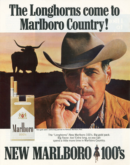 Marlboro Cigarettes The Longhorns Come 1967 | Vintage Ad and Cover Art 1891-1970
