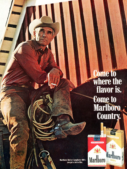 Marlboro Come To Marlboro Country 1969 Horse | Sex Appeal Vintage Ads and Covers 1891-1970