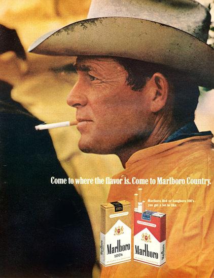 Marlboro Come To Marlboro Country 1969 Rain   Vintage Ad and Cover Art 1891-1970