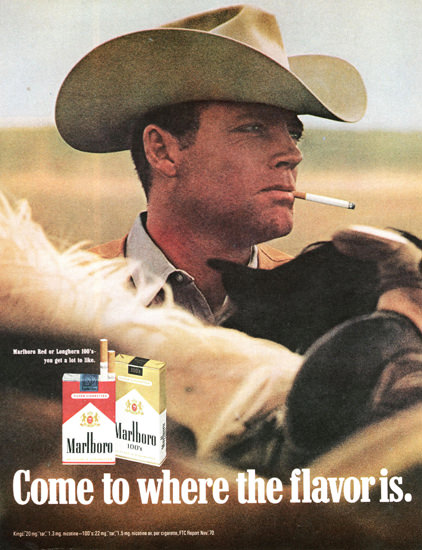 Marlboro Come To Where The Flavor Is 1970 | Sex Appeal Vintage Ads and Covers 1891-1970