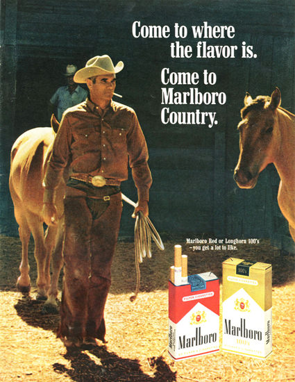 Marlboro Country 1970 Meadow   Vintage Ad and Cover Art 1891-1970