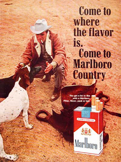 Marlboro Man 1965 Dogs | Vintage Ad and Cover Art 1891-1970