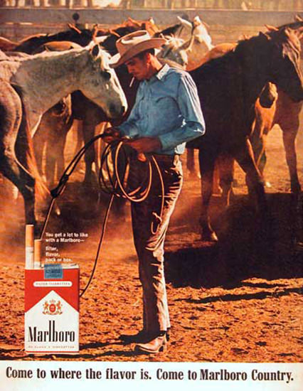 Marlboro Man 1966 Come To Marlboro Country | Vintage Ad and Cover Art 1891-1970