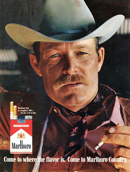 Marlboro Man 1969 In The Dark | Sex Appeal Vintage Ads and Covers 1891-1970