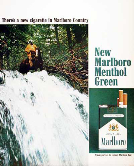 Marlboro Menthol Green 1967 | Vintage Ad and Cover Art 1891-1970