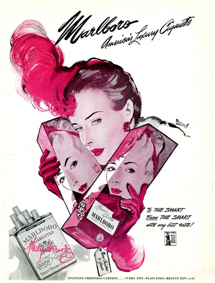 Marlboro Smart Girl Americas Luxury 1943 | Sex Appeal Vintage Ads and Covers 1891-1970
