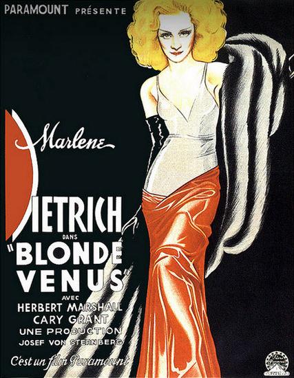 Marlene Dietrich Blonde Venus 1933   Sex Appeal Vintage Ads and Covers 1891-1970