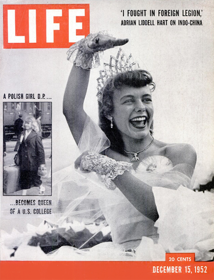 Marlies Gessler Florida State Queen 15 Dec 1952 Copyright Life Magazine | Life Magazine BW Photo Covers 1936-1970