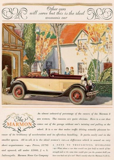 Marmon 8 Motor Car Company Womans Car | Vintage Cars 1891-1970