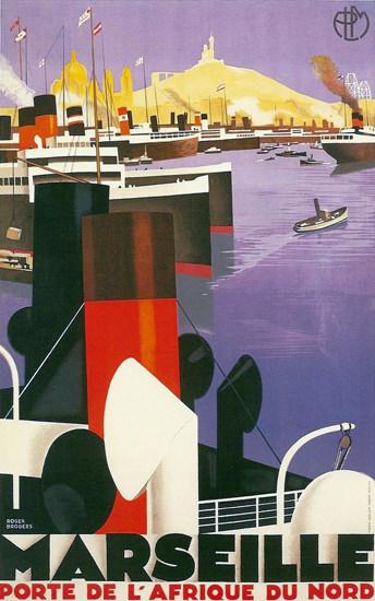 Marseille Porte De L Afrique Du Nord 1931 | Vintage Travel Posters 1891-1970