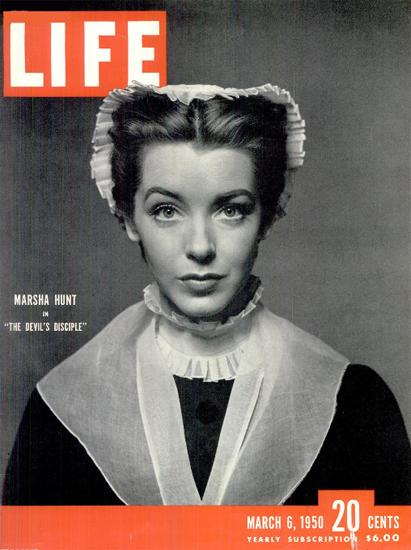 Marsha Hunt in The Devils Disciple 6 Mar 1950 Copyright Life Magazine | Life Magazine BW Photo Covers 1936-1970