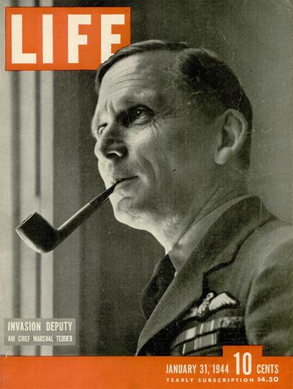 Marshal Arthur Tedder 31 Jan 1944 Copyright Life Magazine | Life Magazine BW Photo Covers 1936-1970