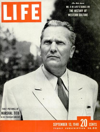 Marshal Tito 13 Sep 1948 Copyright Life Magazine | Life Magazine BW Photo Covers 1936-1970