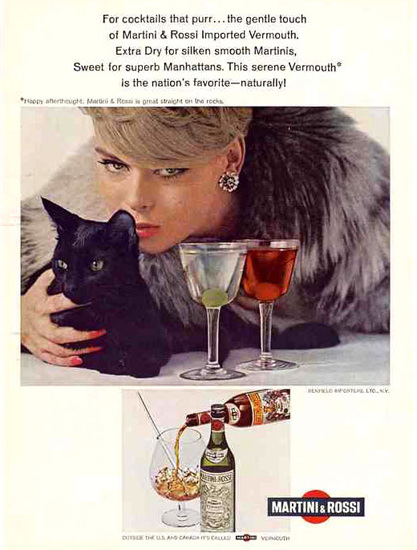Martini Rossi Lady Black Cat 1967 | Sex Appeal Vintage Ads and Covers 1891-1970