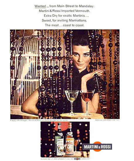 Martini Rossi Wanted From Main Street 1967   Sex Appeal Vintage Ads and Covers 1891-1970
