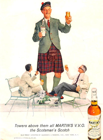 Martins VVO Scotsmans Scotch 1958 | Vintage Ad and Cover Art 1891-1970
