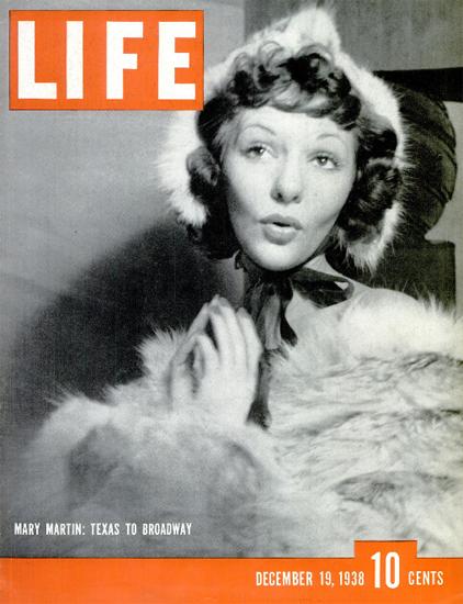 Mary Martin Texas to Broadway 19 Dec 1938 Copyright Life Magazine   Life Magazine BW Photo Covers 1936-1970