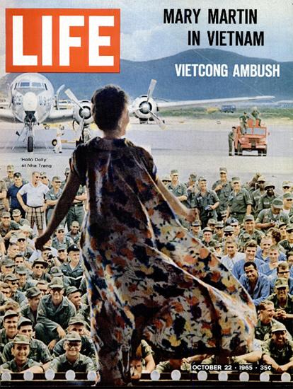 Mary Martin in Nha Trang Vietnam 22 Oct 1965 Copyright Life Magazine | Life Magazine Color Photo Covers 1937-1970