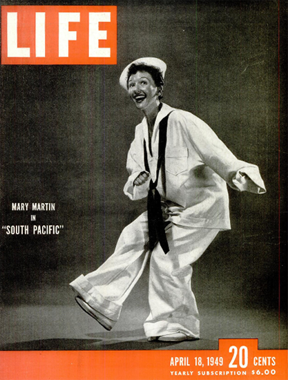 Mary Martin in South Pacific 18 Apr 1949 Copyright Life Magazine | Life Magazine BW Photo Covers 1936-1970