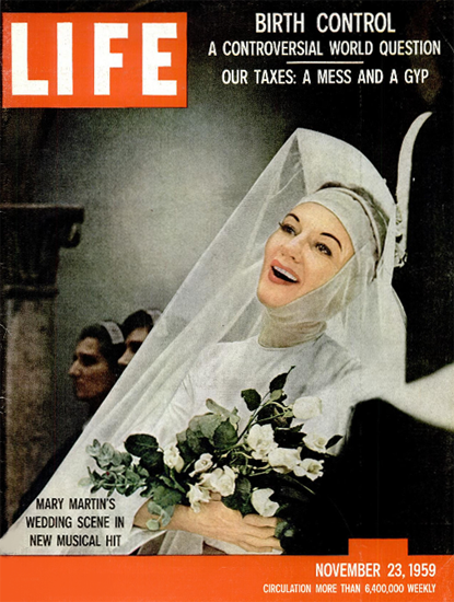 Mary Martin in The Sound of Music 23 Nov 1959 Copyright Life Magazine | Life Magazine Color Photo Covers 1937-1970