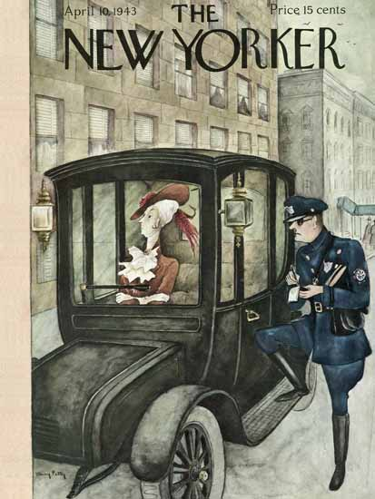 Mary Petty The New Yorker 1943_04_10 Copyright | The New Yorker Graphic Art Covers 1925-1945